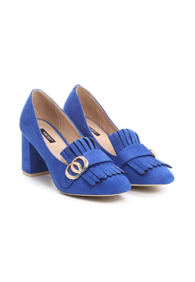 Niebieskie Czółenka Laver