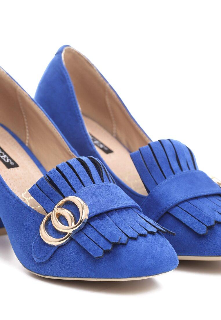 Niebieskie Czółenka Argyle