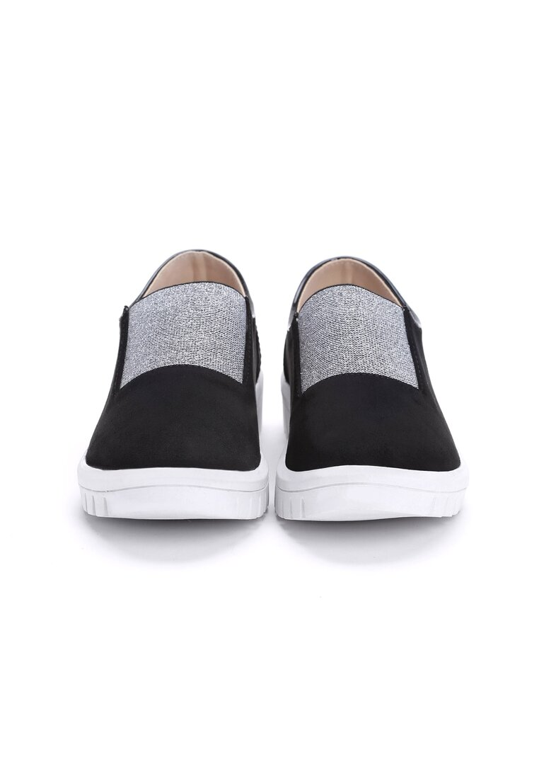 Czarne Slip On Pinstripes