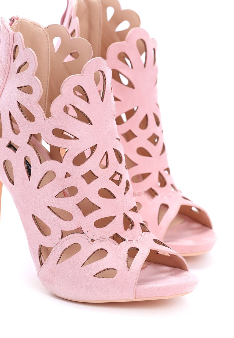 Różowe Sandały Argyle