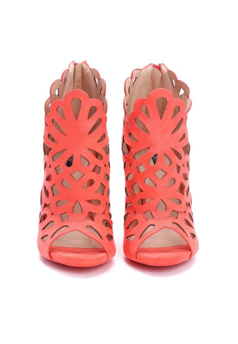 Pomarańczowe Sandały Preciose
