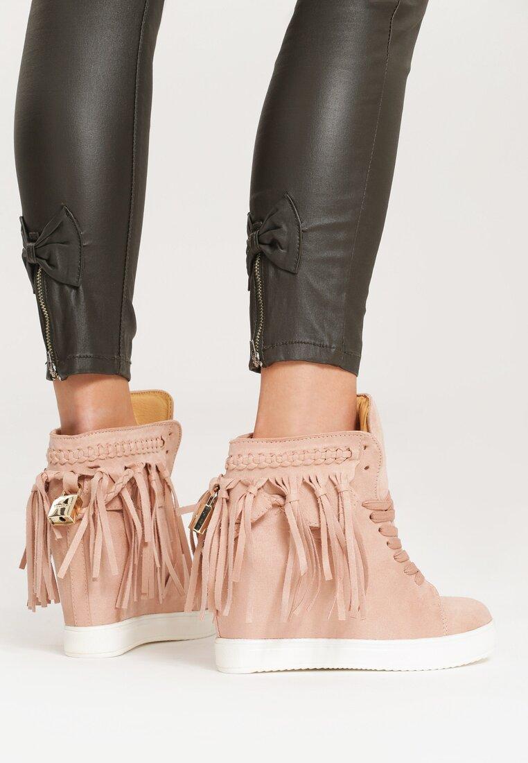 Różowe Sneakersy Stick In Web