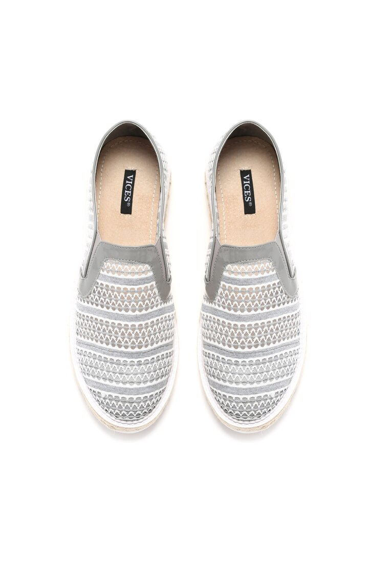 Szare Slip On Small Wave