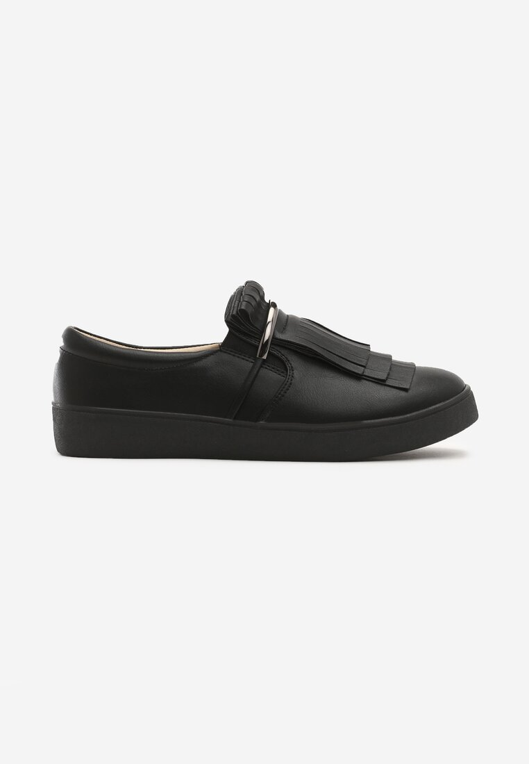 Czarne Slip On Vanishing