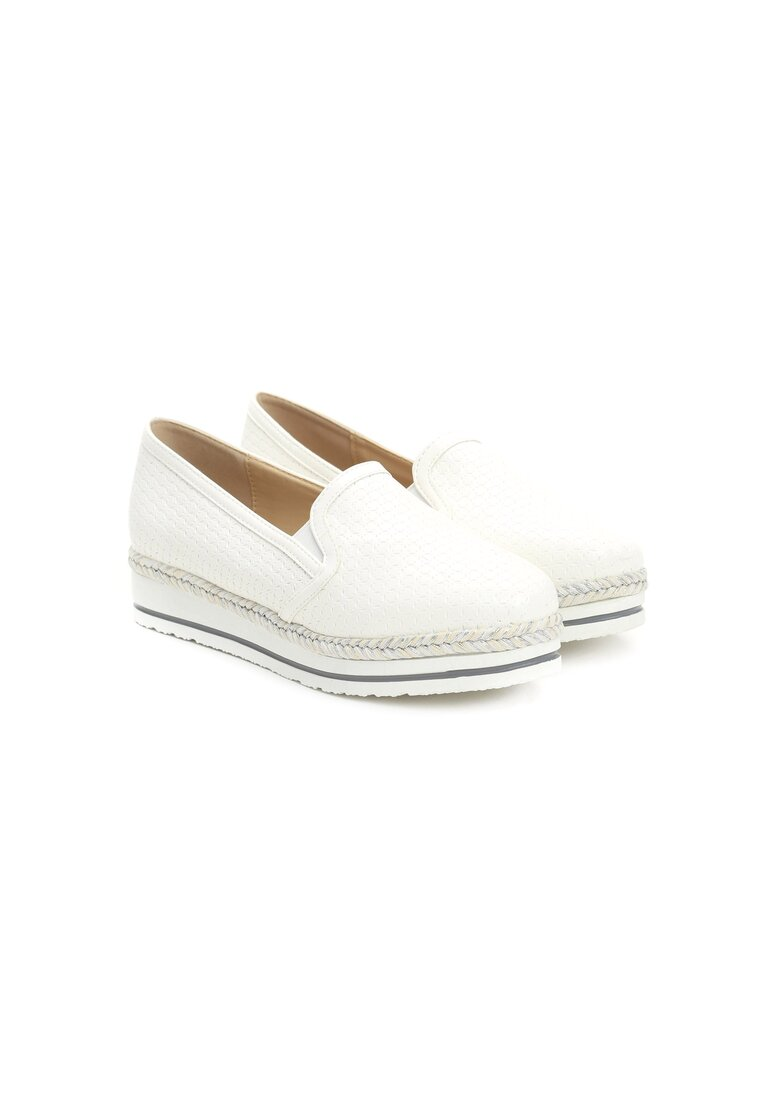 Białe Slip On Quintessential