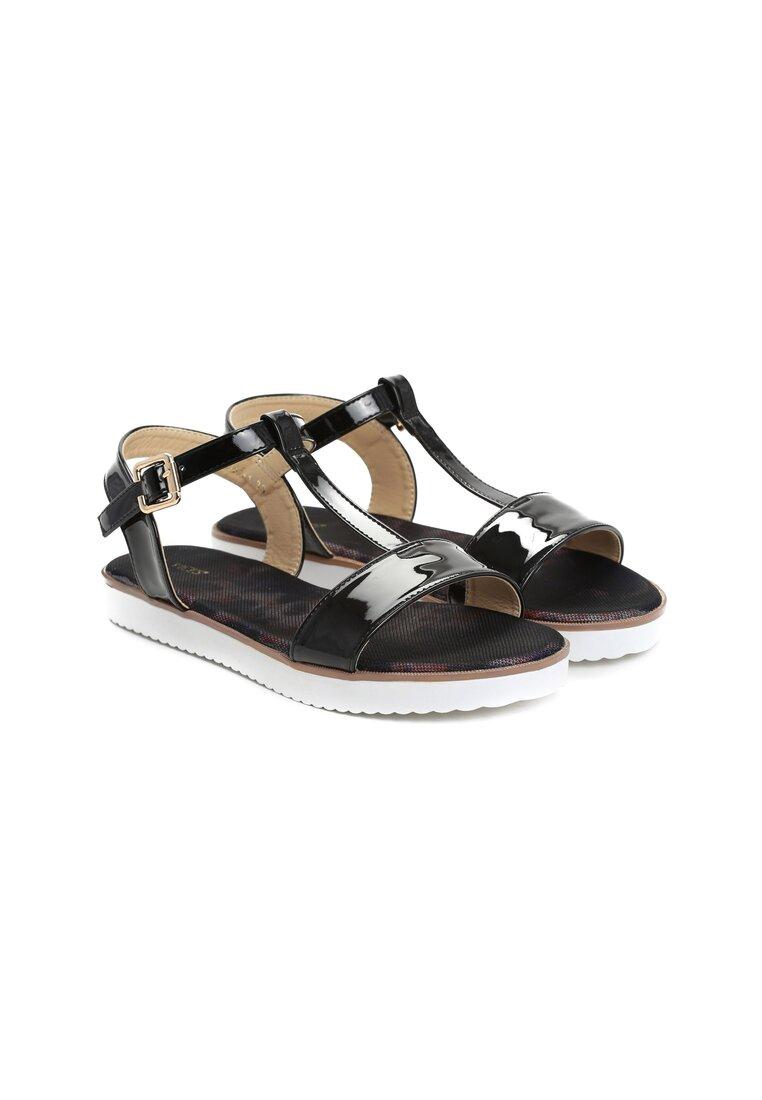 Czarne Sandały Duende