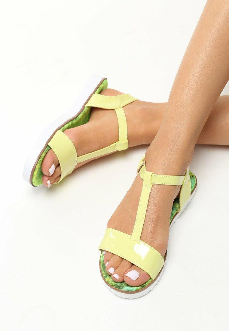 Limonkowe Sandały Duende
