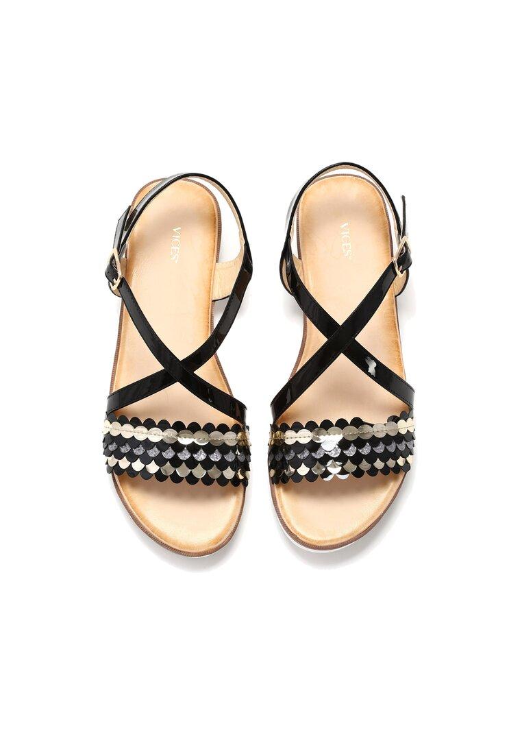 Czarne Sandały Derive