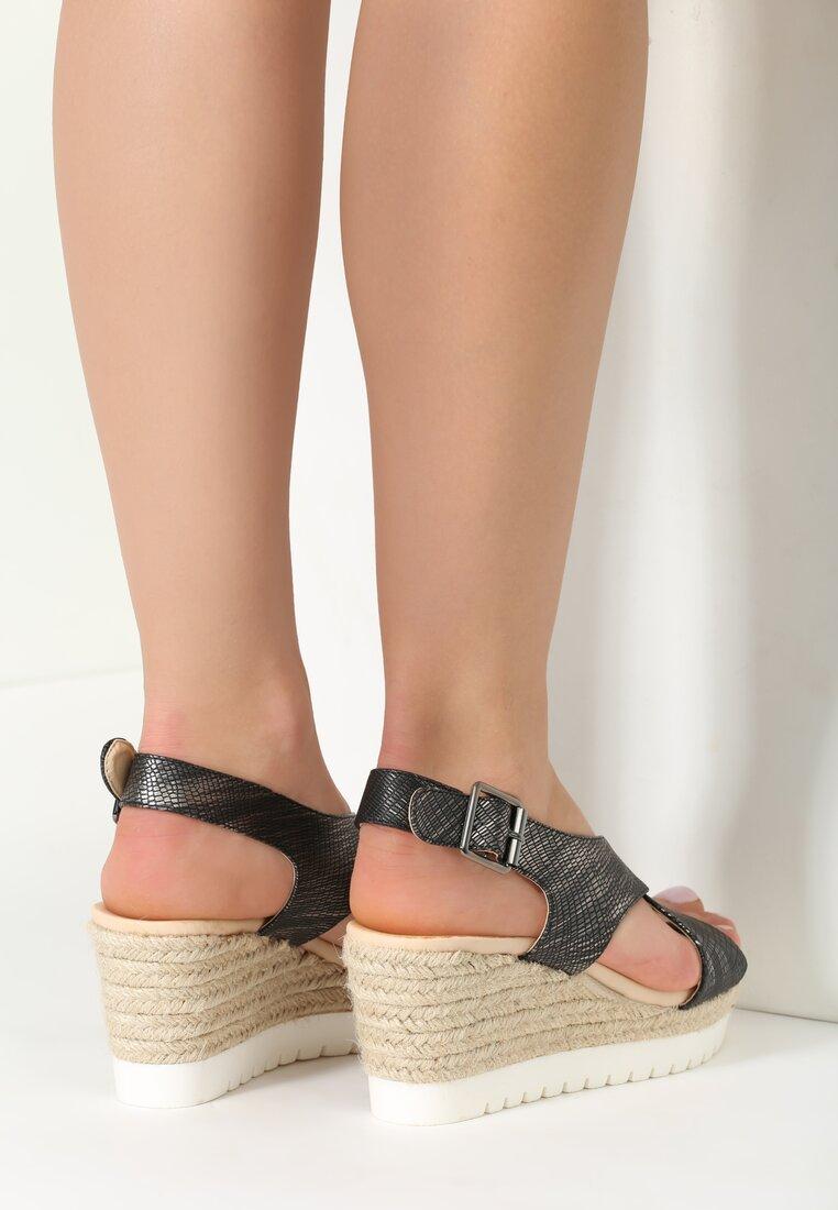 Czarne Sandały Deja Vu