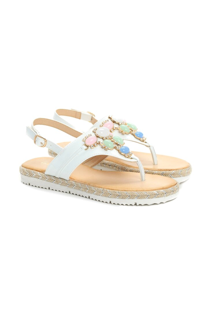 Białe Sandały Mantis