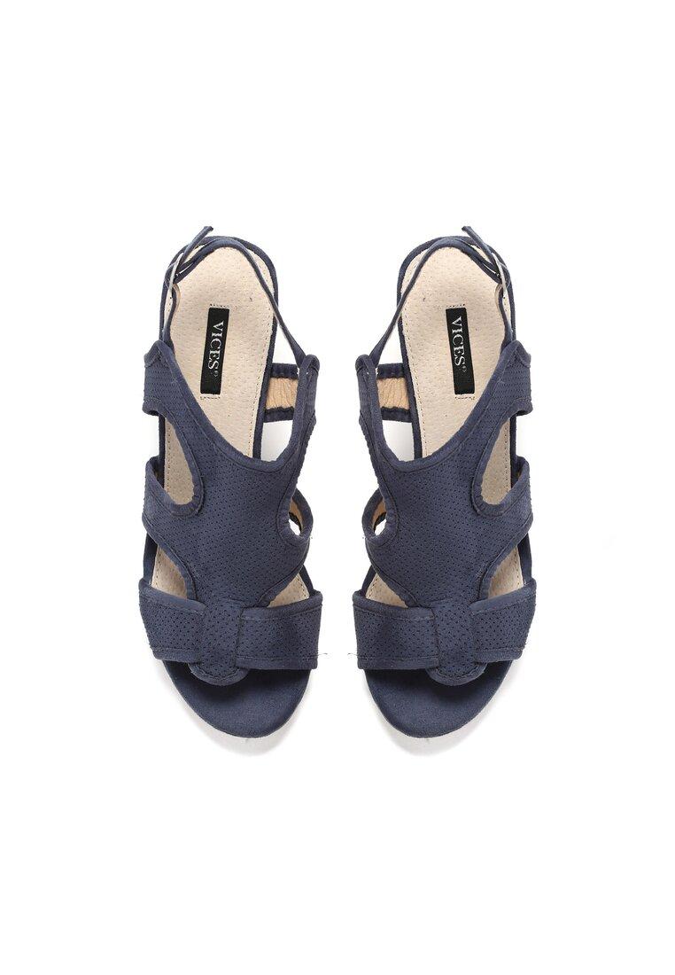 Granatowe Sandały Succumb