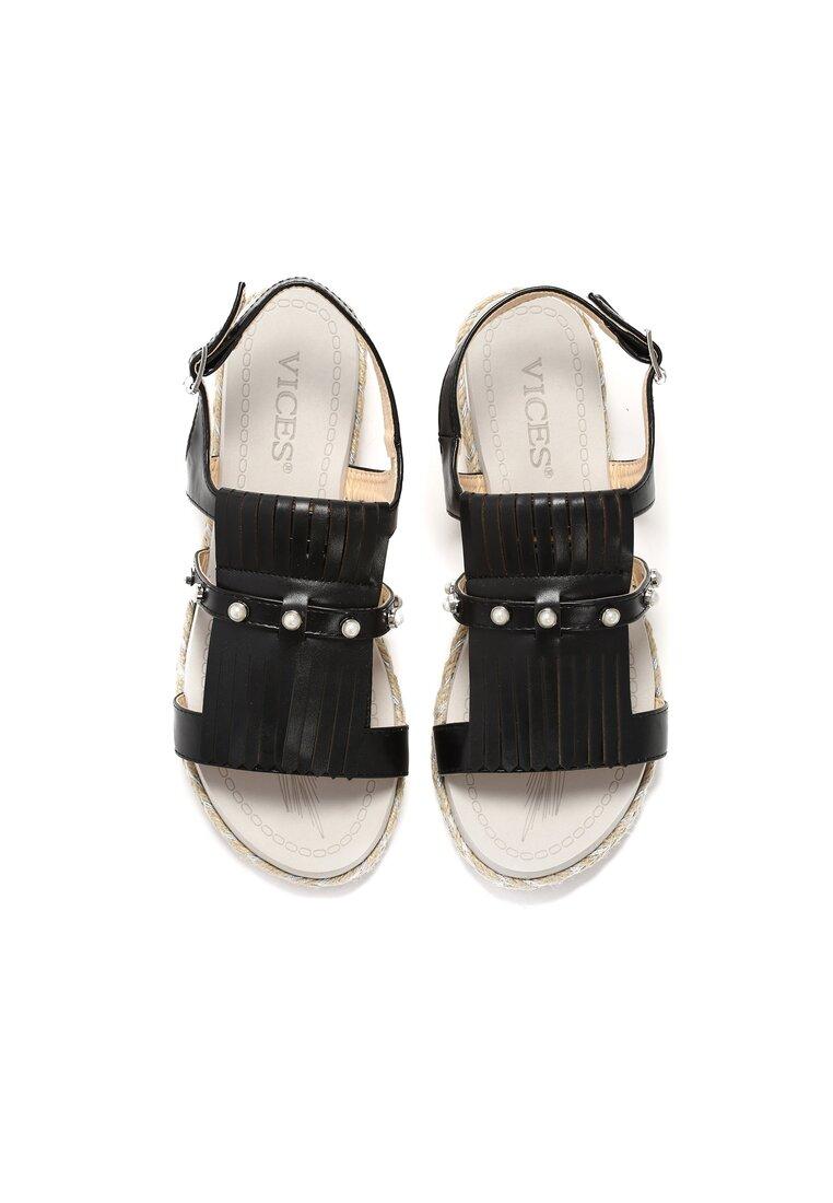 Czarne Sandały Elysian