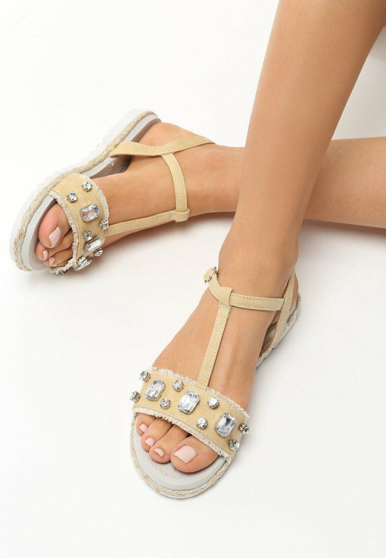 Beżowe Sandały Fortitude