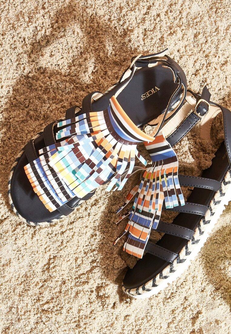 Czarne Sandały Dismantle