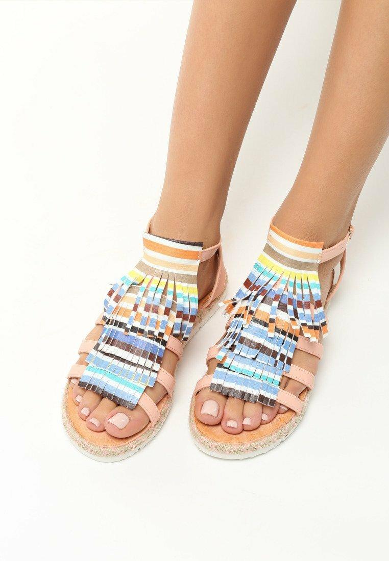 Różowe Sandały Dismantle