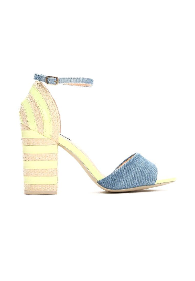 Limonkowe Sandały Last Stripes