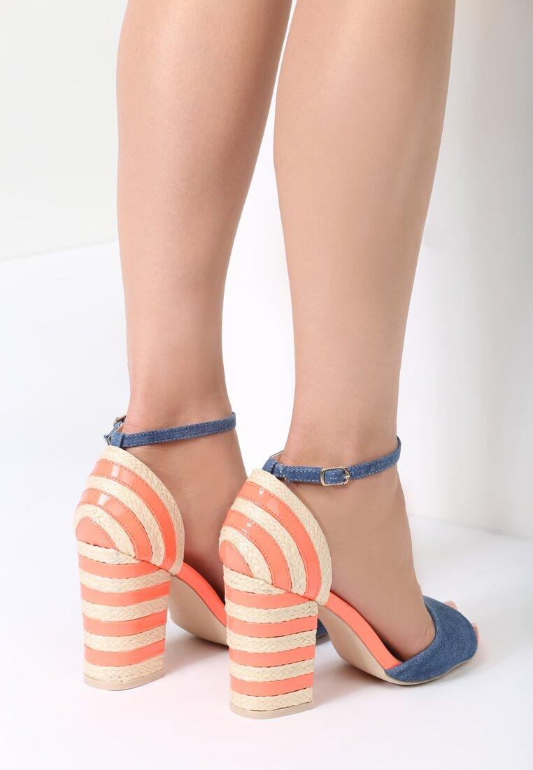 Pomarańczowe Sandały Last Stripes
