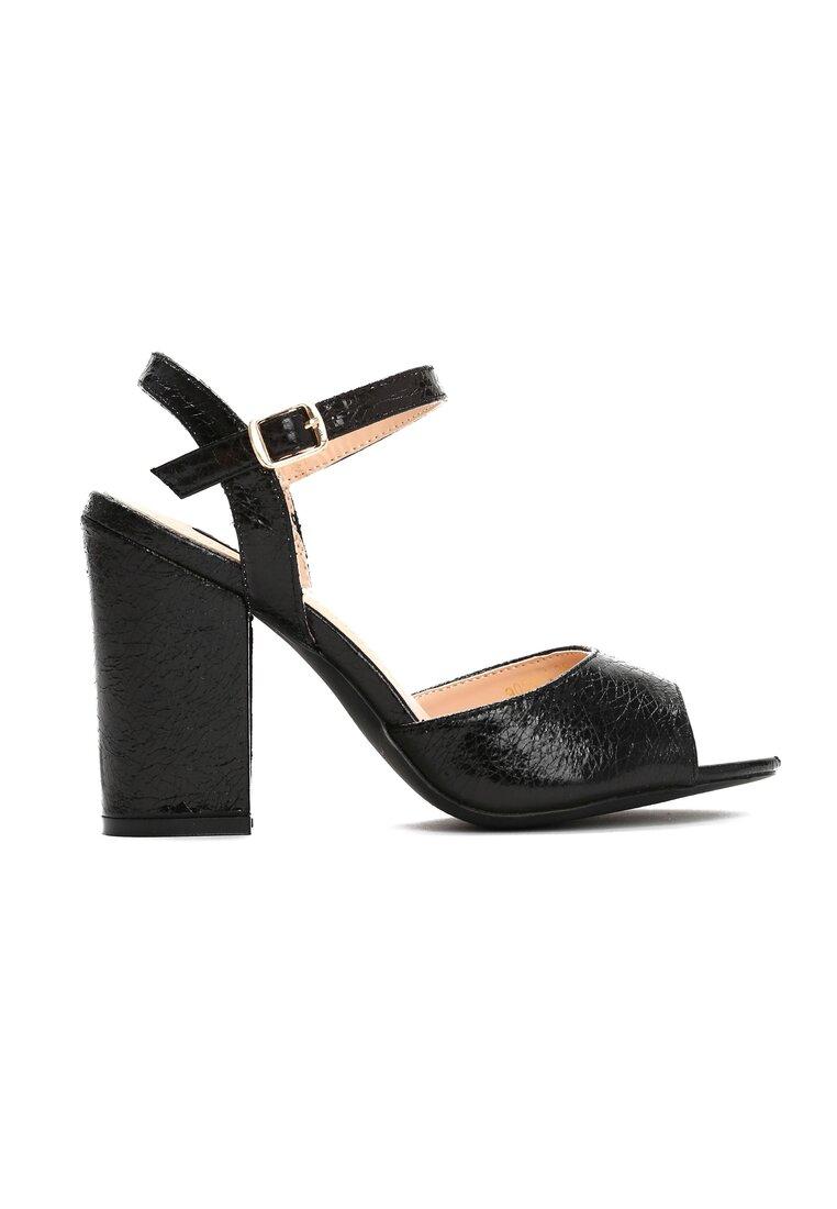 Czarne Sandały Purity