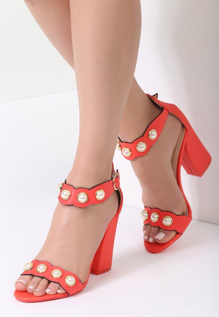 Czerwone Sandały Kisses Back