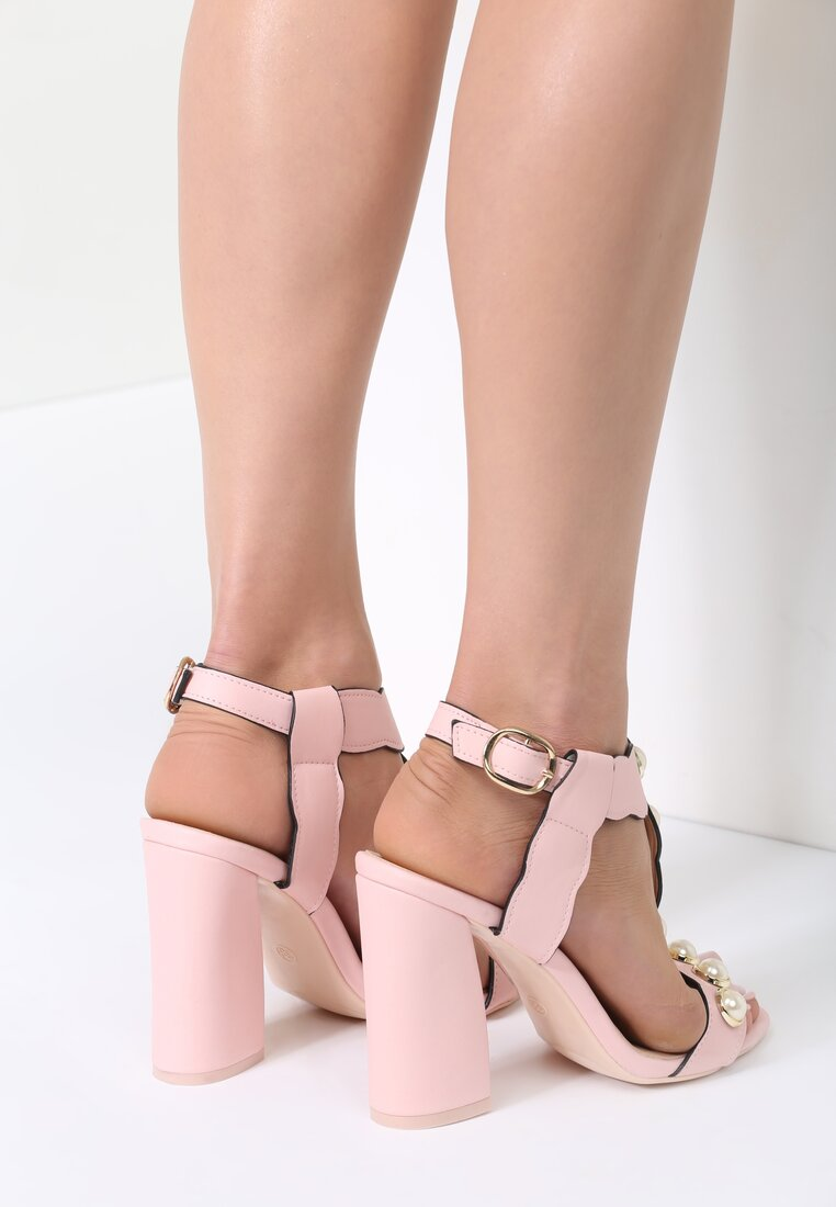Różowe  Sandały Strange Love