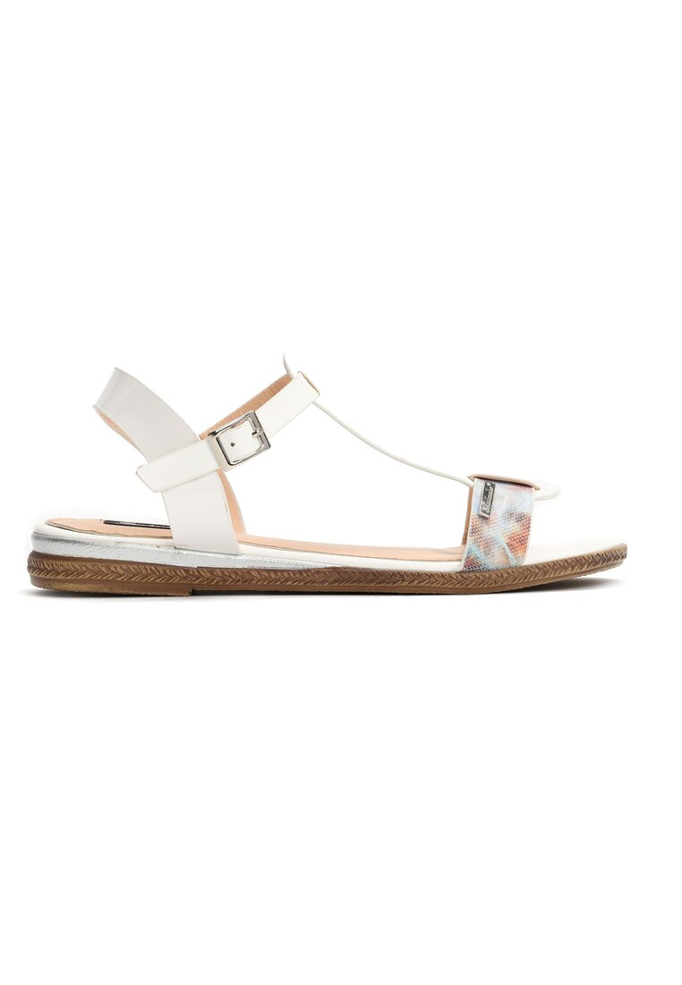 Białe Sandały Polichroma
