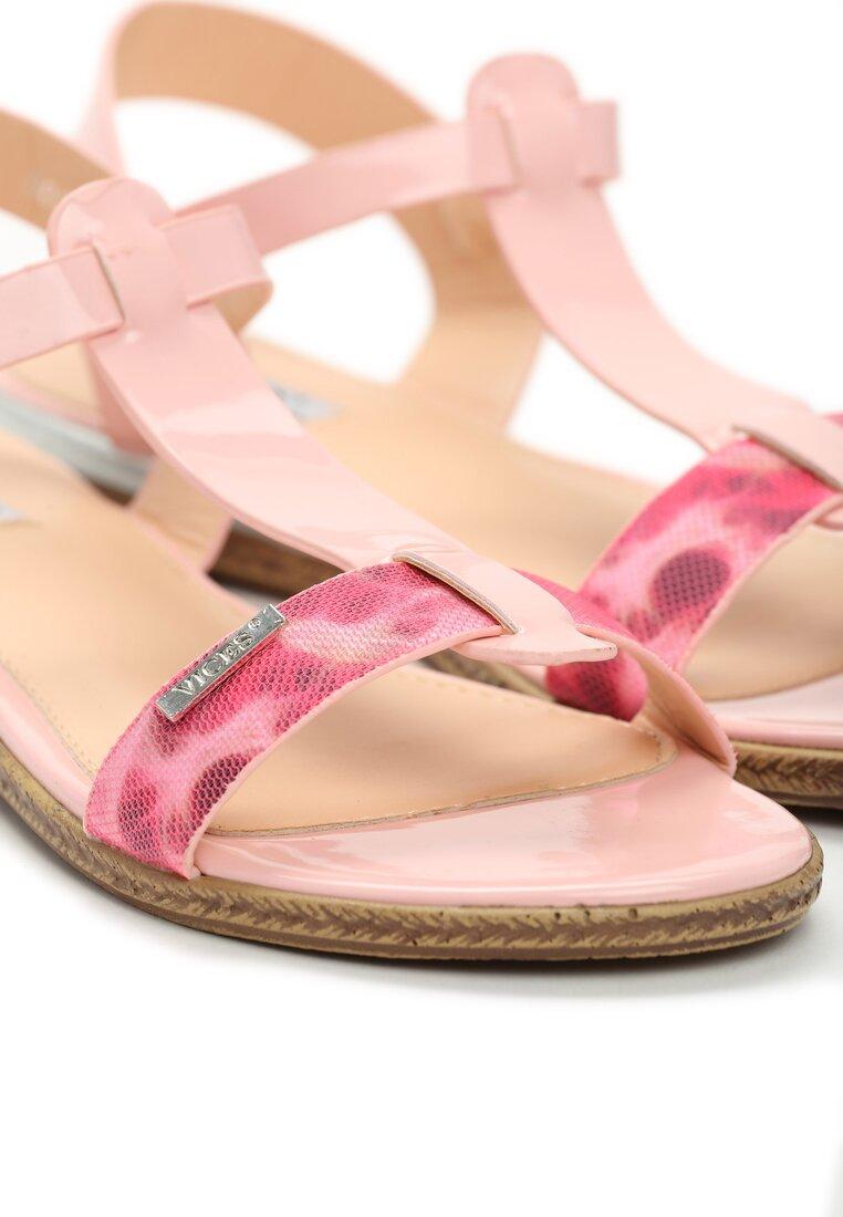 Różowe Sandały Polichroma