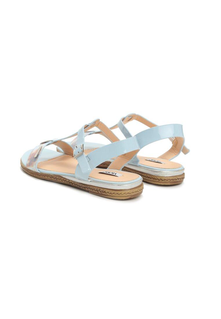 Niebieskie Sandały Polichroma