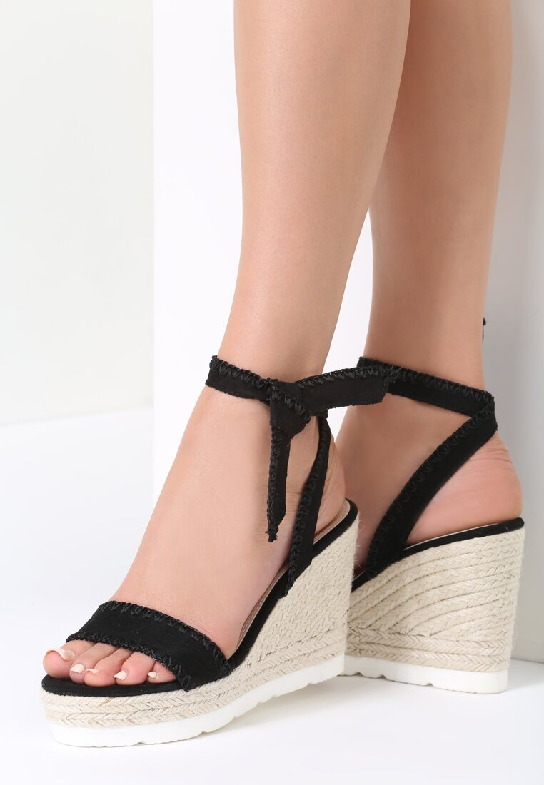 Czarne Sandały Somnambulist
