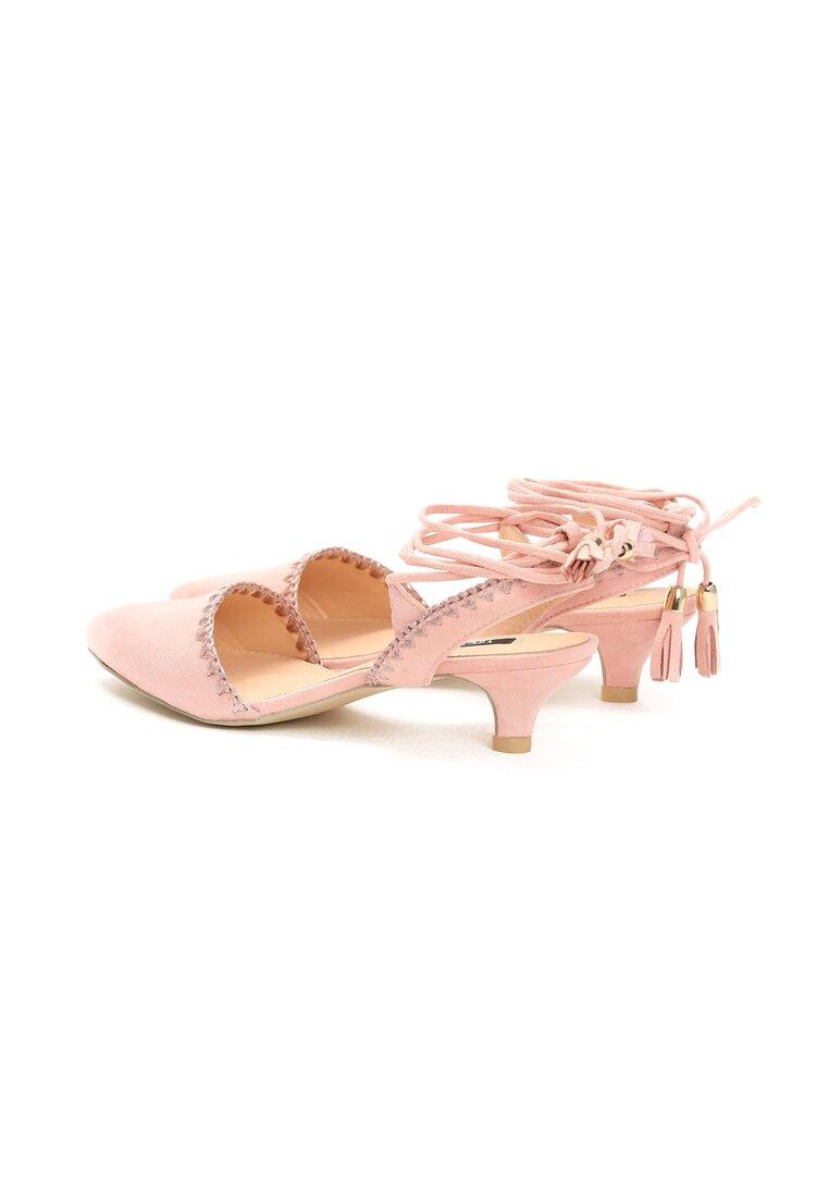 Różowe Sandały Stiletto