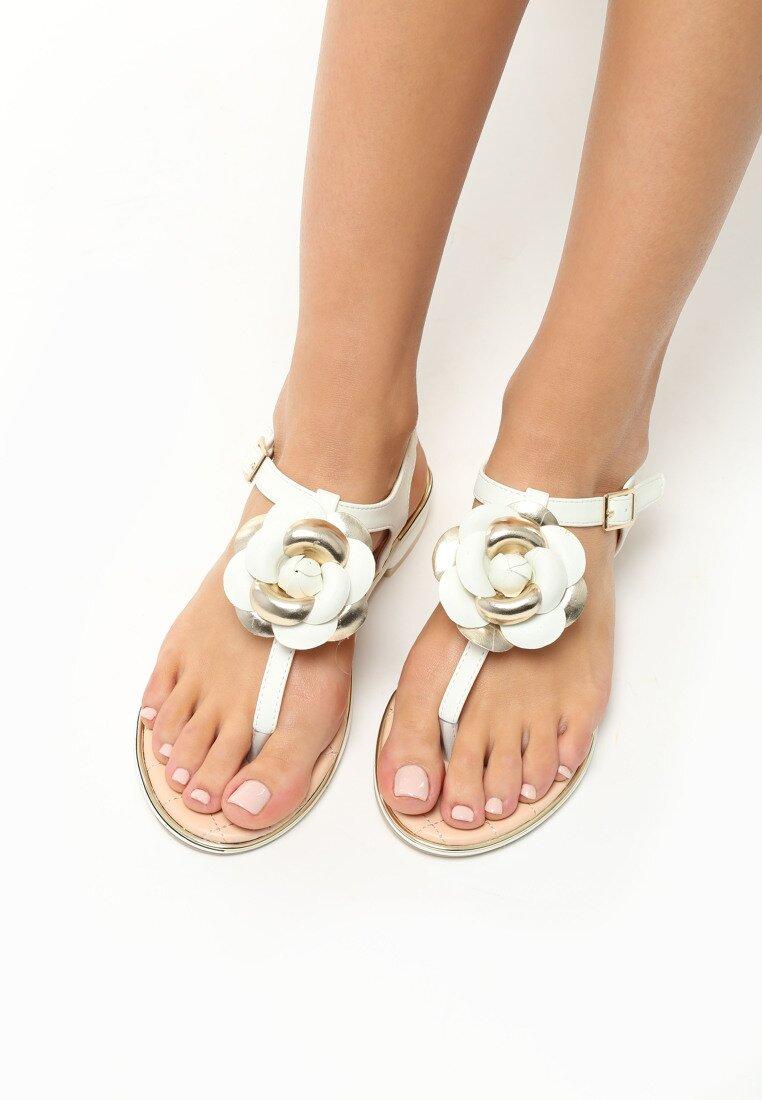 Białe Sandały Blossom