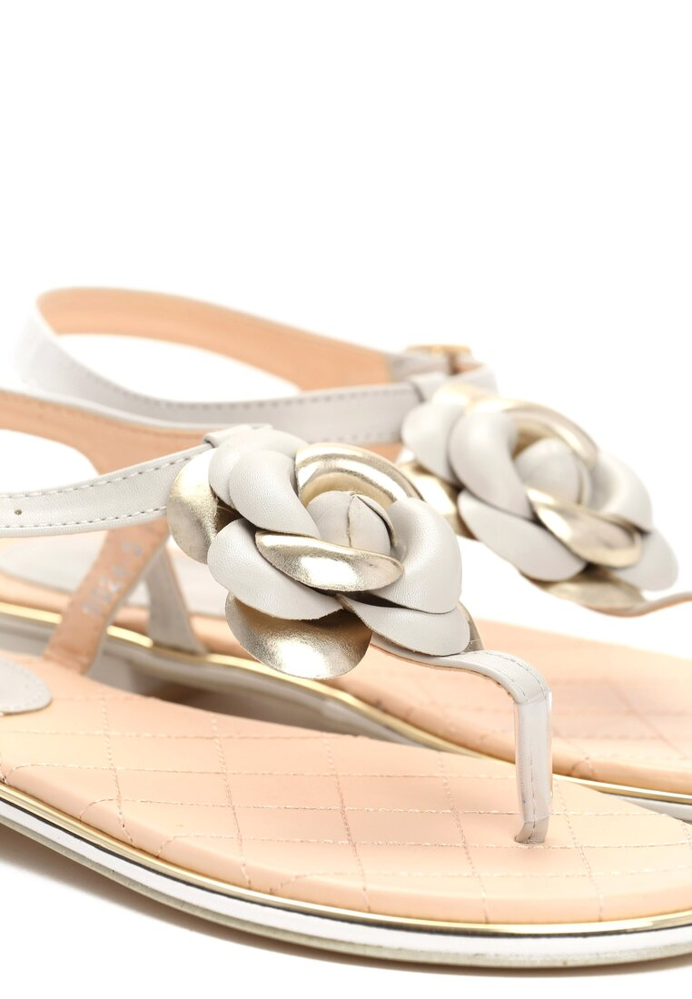 Szare Sandały Blossom