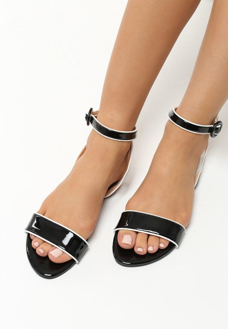 Czarne Sandały Upbeat