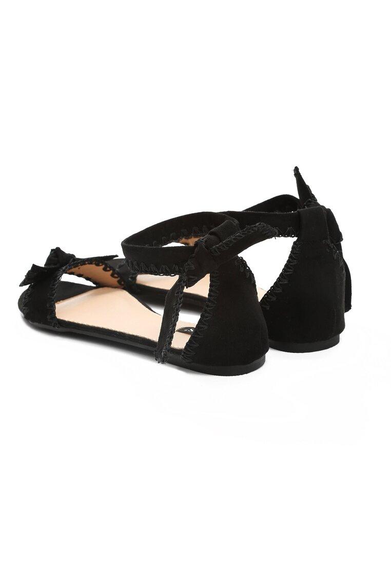 Czarne Sandały Luxury