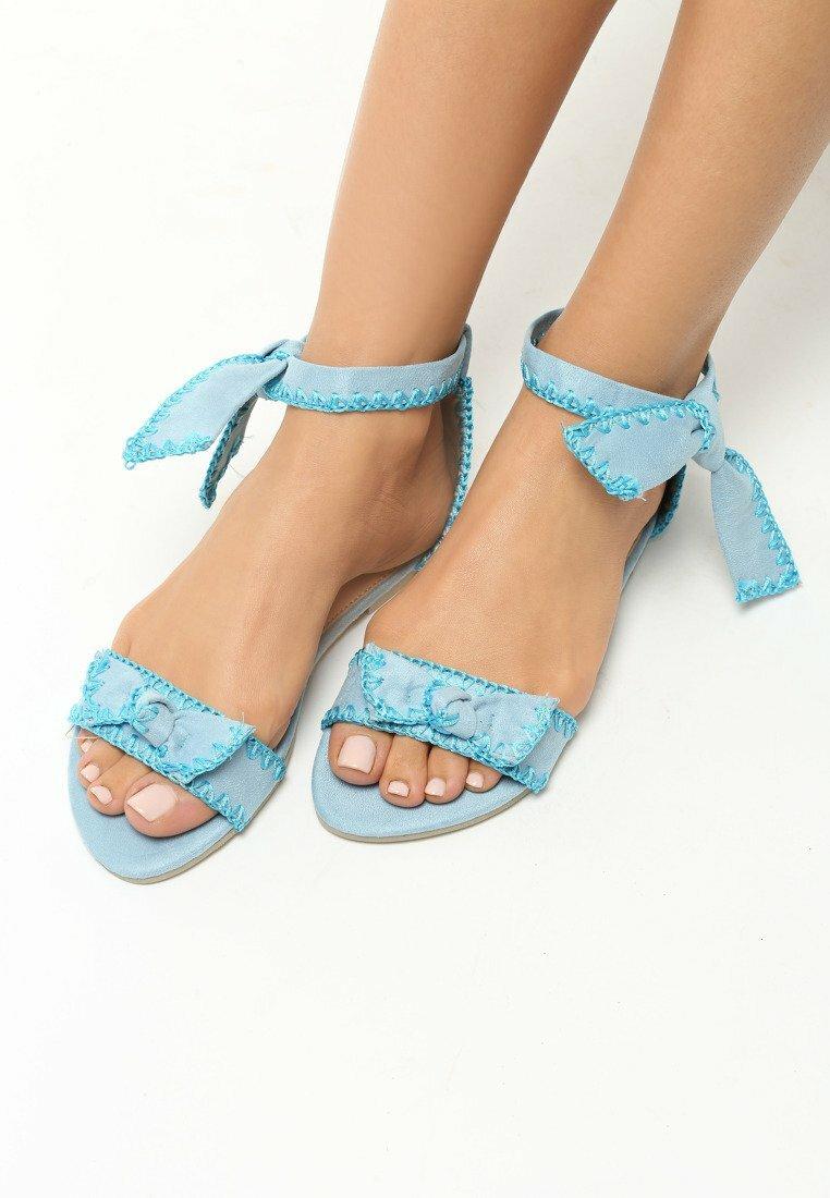 Niebieskie Sandały Luxury