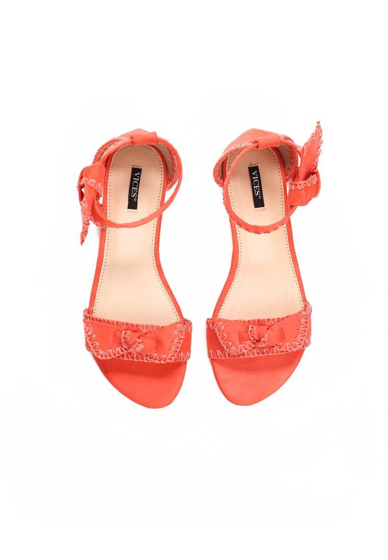 Koralowe Sandały Luxury
