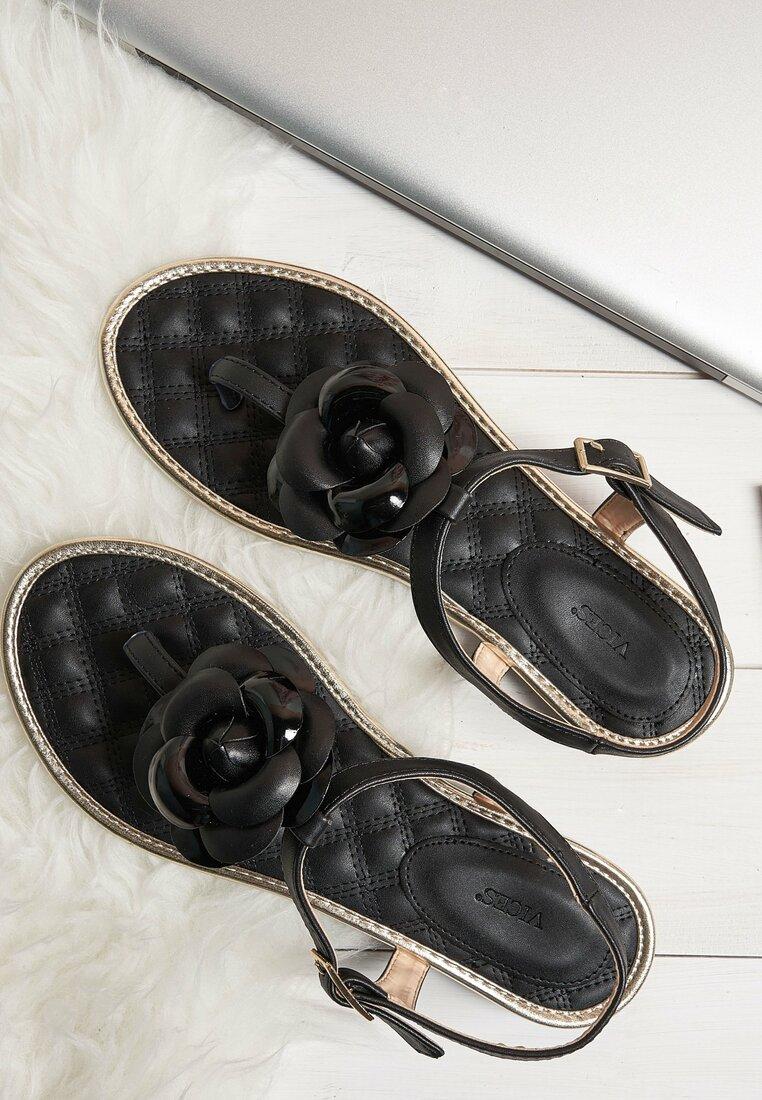 Czarne Sandaly Splendid
