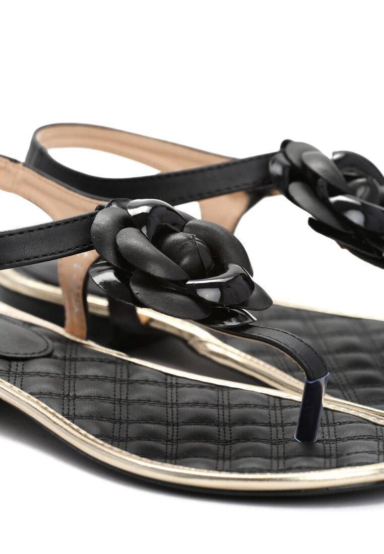 Czarne Sandały Tangle