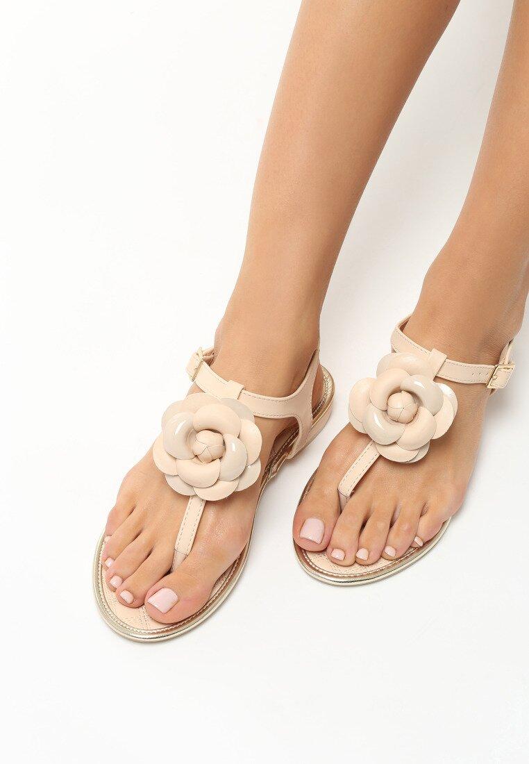 Beżowe Sandały Tangle