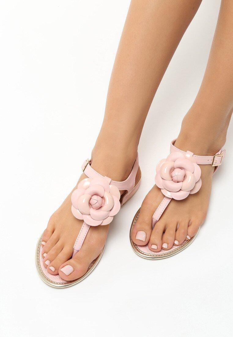 Różowe Sandały Tangle