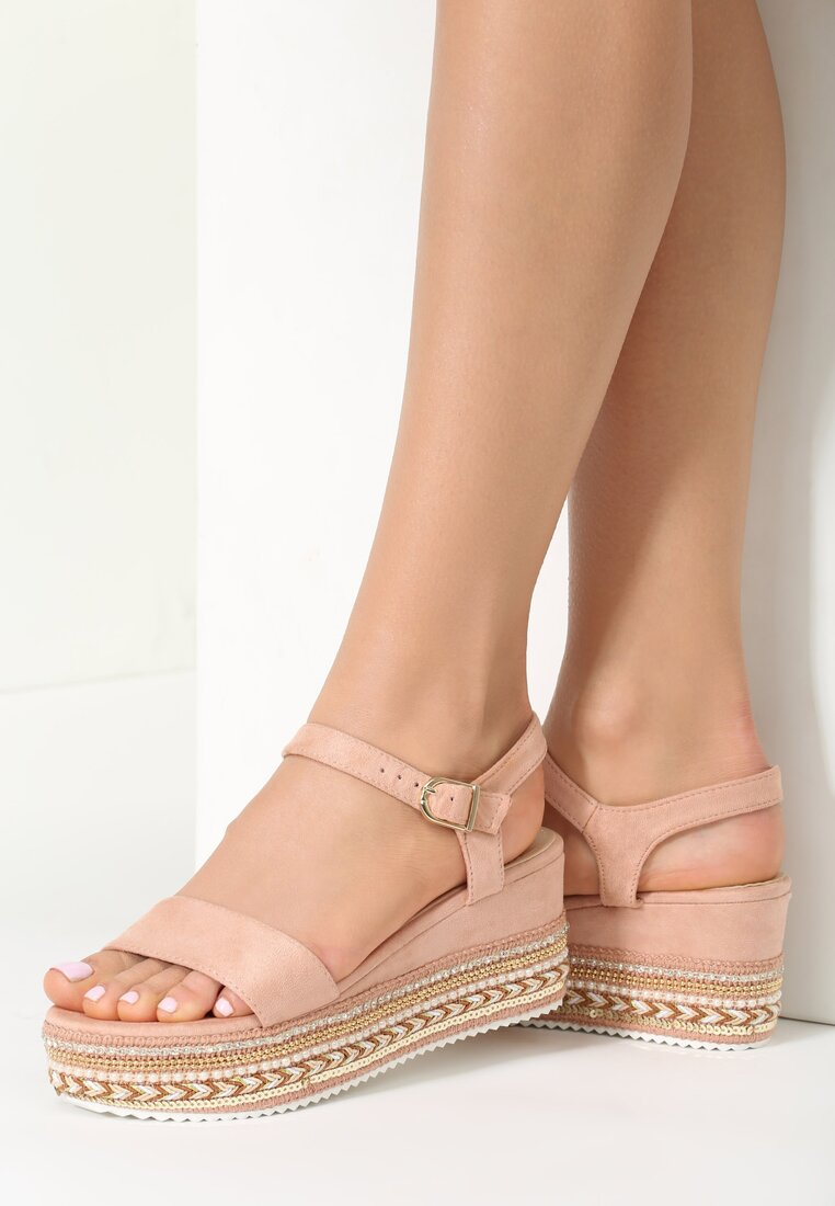 Różowe Sandały Pick Up