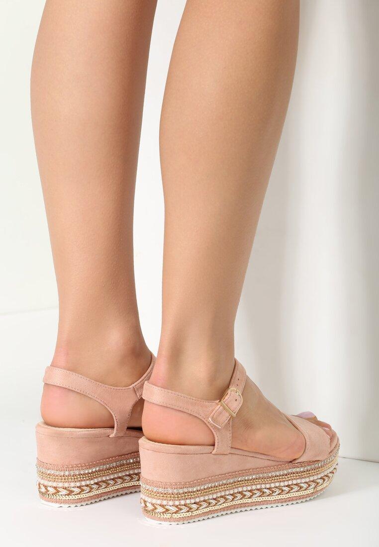 Różowe Sandały Nonchalance