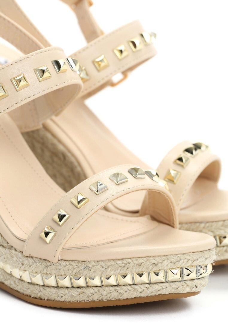 Beżowe Sandały Twisting