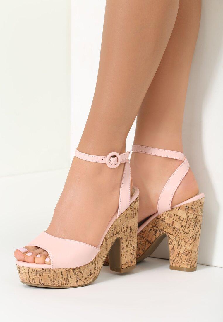 Różowe Sandały Stay Together