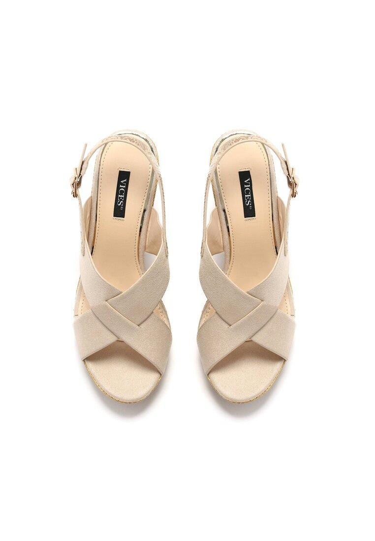 Beżowe Sandały Snowblow
