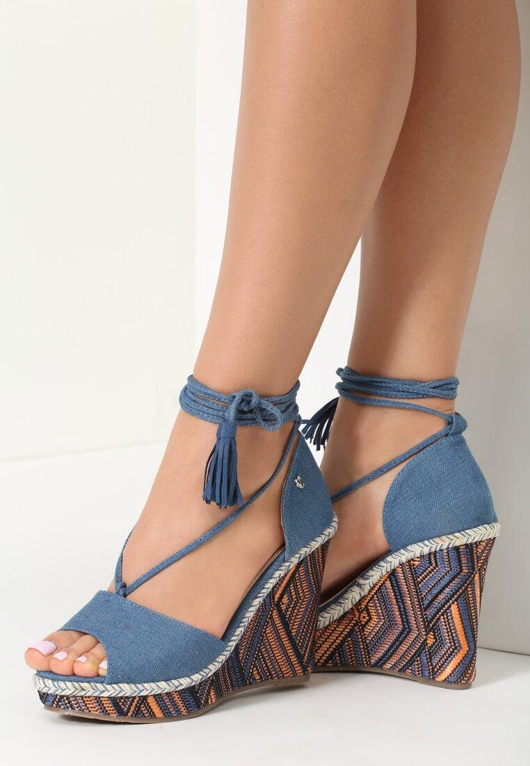 Niebieskie Sandały Sunday Morning