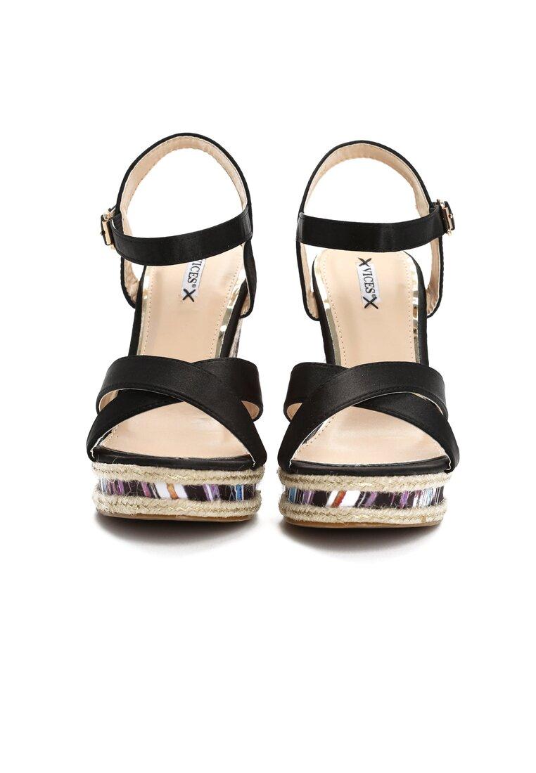 Czarne Sandały Watch Me