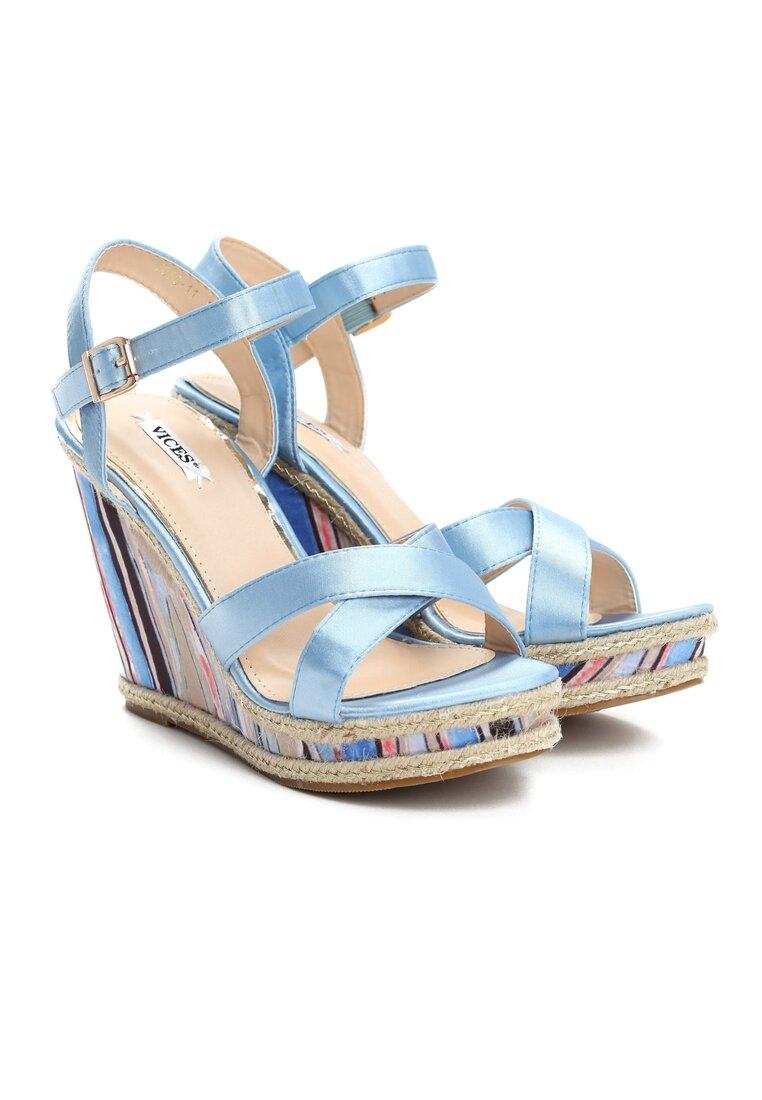 Niebieskie Sandały Watch Me