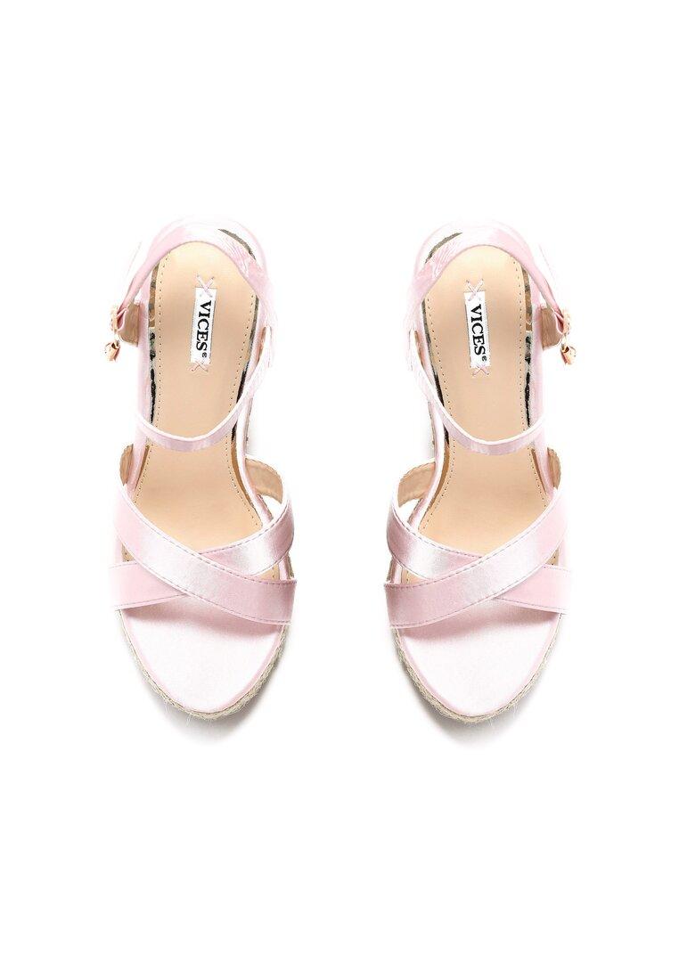 Różowe Sandały Watch Me