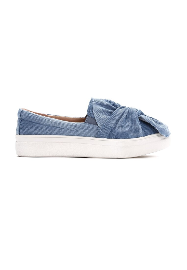 Jasnoniebieskie Slip On Burning Love