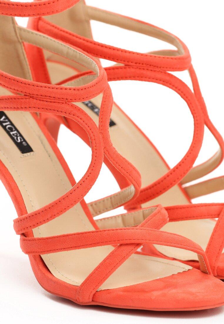 Pomarańczowe Sandały Glorious